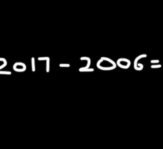 11周年手写