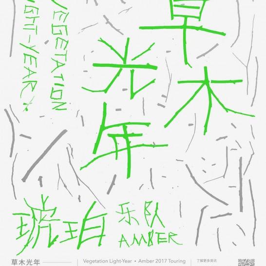 琥珀乐队2017草木光年巡演官方海报