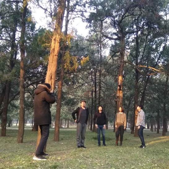 琥珀乐队在天坛公园拍摄2018新宣传照